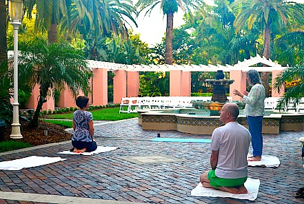 """Yoga for Writers"" at the Historical Novel Society Conference June 22, 2013 Vinoy Hotel St. Petersberg, FL"