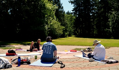 Witing at Saraswati Writing & Yoga Workshop Fairhaven, WA 2013