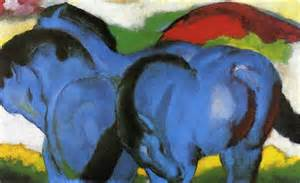 BLUE HORSES Franz Marc 1911 private collection Hamburg