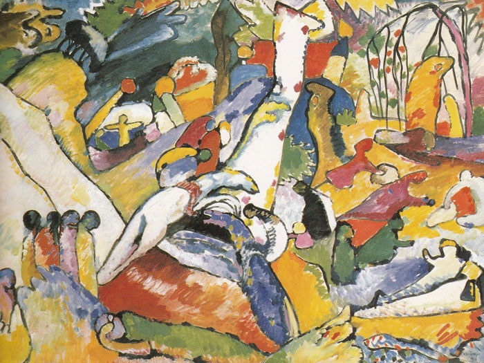 sketch for Composition II Kandinsky 1910 Guggenheim NY