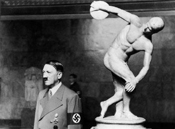 Hitler and The Discobolus original source unknown
